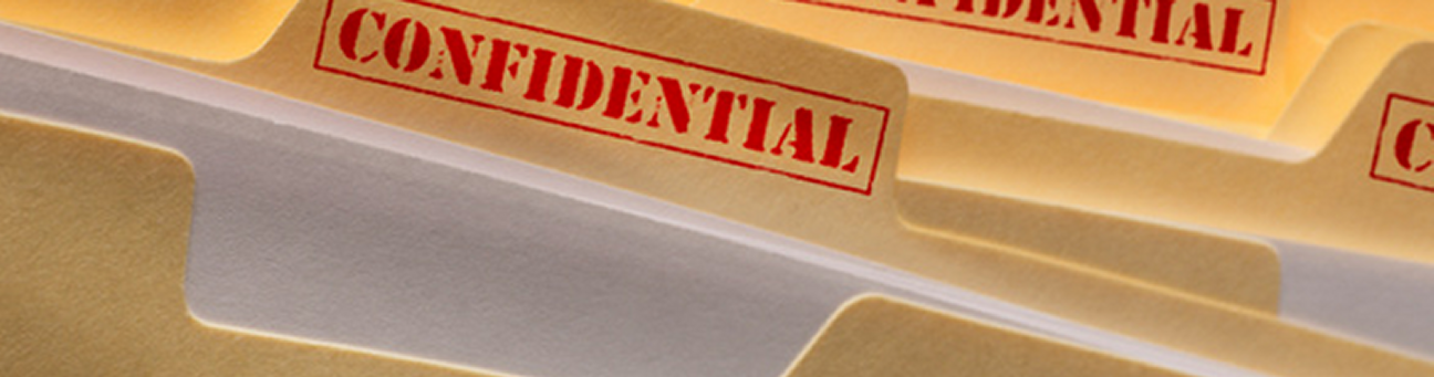 FERPA Photo of Confidential Folders