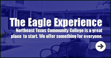 Northeast Texas Community College is a great place to start. We offer something for everyone.
