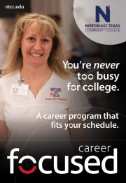 You're Never too busy for college. A career program that fits your schedule.