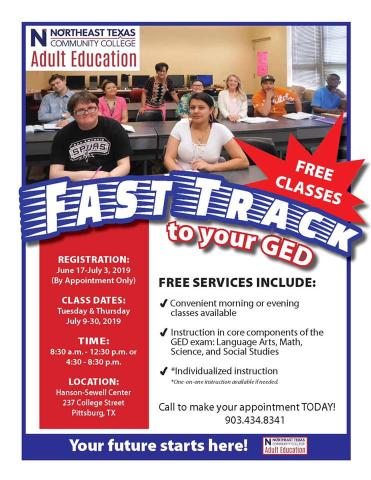 Fast track GED flier