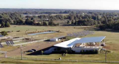 aerial shot of NTCC farm