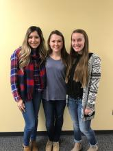 Viviana Ugalde, Karissa Bolyog and Ashley Burdine - PTA Students