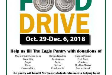 Food drive for Eagle food pantry flyer