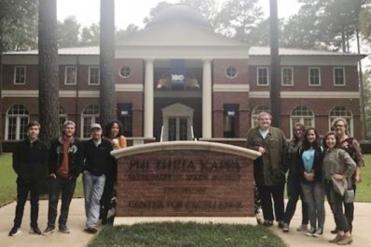 Alpha Mu Chi members visit PTK headquarters