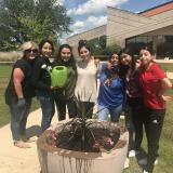 Dual credit students with planter