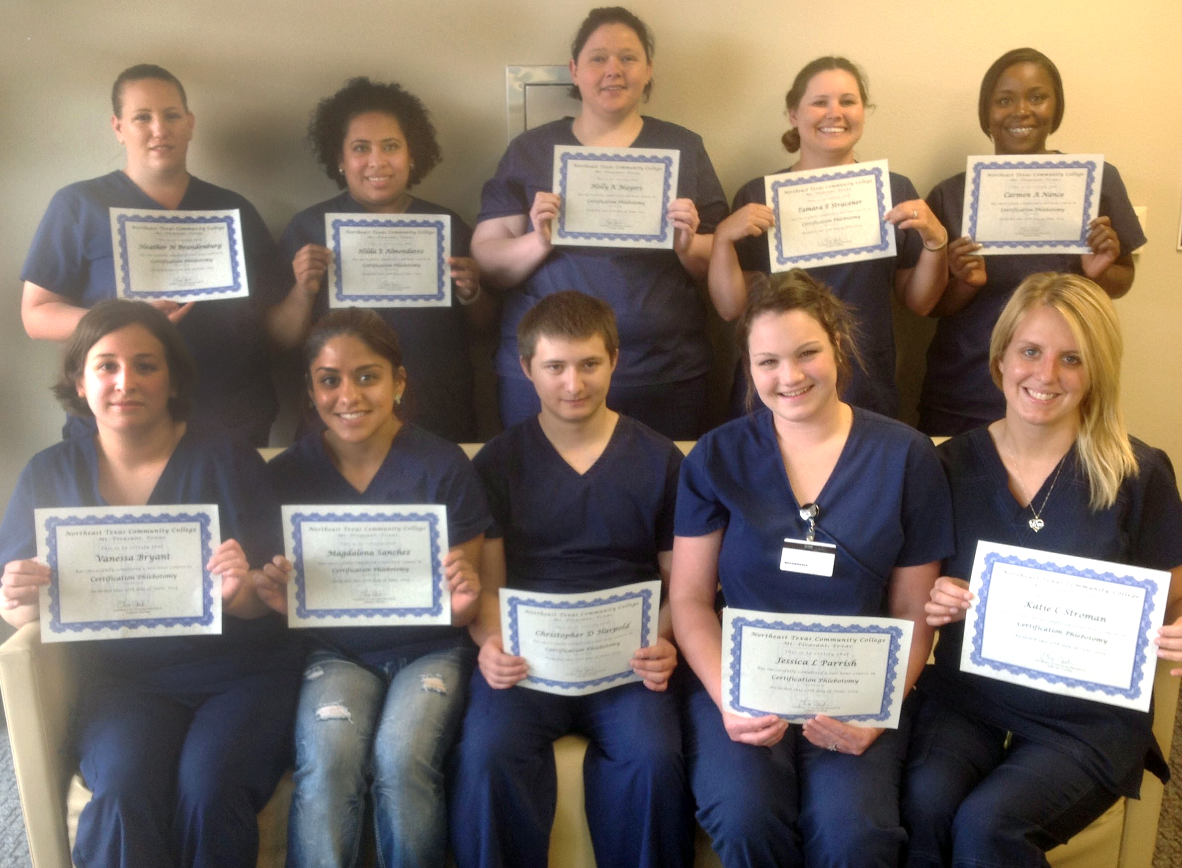 Students Complete Ntcc Phlebotomy Training Northeast Texas